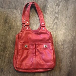 Marc by Marc Jacobs Totally Turnlock Teri Red Bag